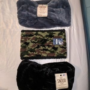 Accessories - NWT 3  Total Snood Neck Warmer 'Infinity Scarves'